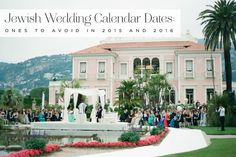 Dates in 2015 and 2016 to avoid for a Jewish wedding