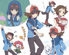 Hilbert is better than Nate in every sense. Pokemon Black, Pokemon Noir, Pokemon Manga, Pokemon Comics, Pokemon Funny, Pokemon Fan Art, Cute Pokemon, Black Pokemon Trainer, Pokemon Couples