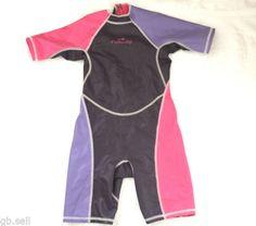 e3a2b1d0a2974 Nabaiji Girls Shorty Wetsuit Wet Suit Swim Costume Short Leg 6 Ys Pink Free  P amp P