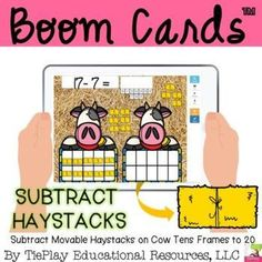 Cowboom! In Subtract Movable Haystacks with Cow Tens Frames, learners answer 15 subtraction math questions using movable hay. Learners set up the problem to solve using movable hay for within 20, then type in their answer using a numbers keyboard. Teaching Resources, Teaching Ideas, Health Teacher, Math Questions, Second Grade Math, Primary Education, Educational Videos, Teacher Appreciation, Fun Learning