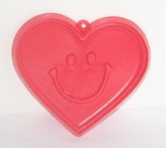 Hallmark Vintage 1982 Smiling Heart Cookie Cutter  Red  Plastic ** You can find more details by visiting the image link.