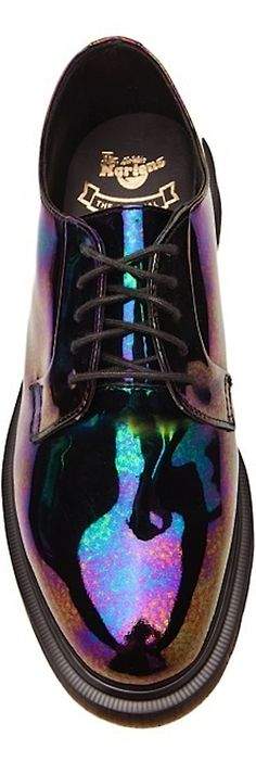 These low oil slick Dr Martens are the pair of my dreams... unless you count my sister's vintage purple velvet pair.