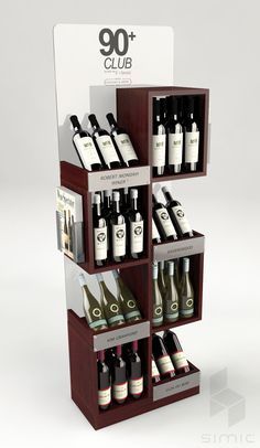 Retail Point of Purchase Design Pos Display, Bottle Display, Wine Display, Display Design, Display Window, Product Display, Display Stands, Pos Design, Stand Design