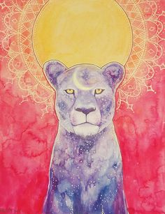 Cosmic Lioness by Annelie Solis