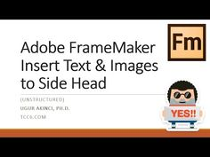 Imagine you are using Adobe FrameMaker and you'd like to insert a Note, Warning, or Caution text or icon into your Side Head (or Side Bar). It's easy when you know how to do it, as explained in this video. Just make sure to create the necessary paragraph styles (or tags) for this task. Technical Writer, Insert Text, Side Bar, When You Know, Paragraph, It's Easy, Communication, Adobe, Writing