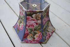 Lampshade in Purple Vintage Floral Fabric / 7 x by lampshadelady, $85.00