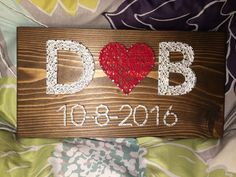 CUSTOM Wedding/Anniversary String Art by KiwiStrings on Etsy