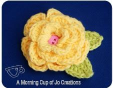 Free-Crochet Patterns: FREE Spring Flower Crochet Pattern by A Morning Cup of Jo Creations