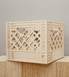 Wooden Milk Crate