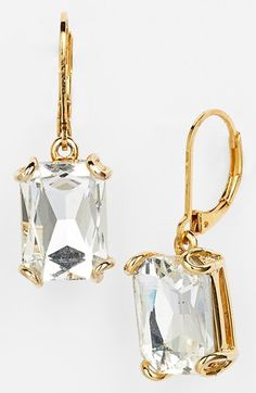 Nordstrom Rectangular Stone Drop Earrings available at #Nordstrom