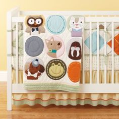All Creatures Great and Small Crib Bedding *boy's room: paint gray *girl's room: paint pink (see cat's nose)