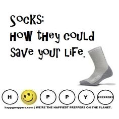 Why socks are so important in prepping (and often overlooked): http://happypreppers.com/socks #preppertalk #survivaltalk