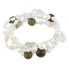 "Rose and White Quartz, Grey Agate and Freshwater Cultured Pearl Bracelet, 7.5"" Amazon Curated Collection. $33.00. Carved rings are naturally occurring imperfections that result from the pearl rotating inside the mollusk as it is growing. They define the unique beauty of each pearl and may vary in size, number and depth per pearl.. Made in China. The natural properties and composition of mined gemstones define the unique beauty of each piece. The image may show slight differ..."