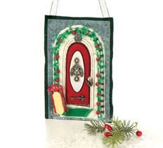 December Door of the Month > Creative Home Arts Club Art Club, Creative Home, Home Art, Stitching, December, Craft Ideas, Doors, Embroidery, Christmas Ornaments