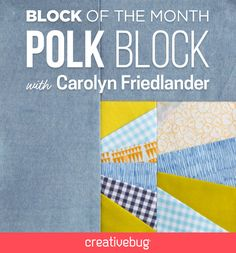 Embrace the flexibility and spontaneity of paper piecing with this scrappy block. Carolyn Friedlander shows you how to select a color palette from your leftover bits of fabric and create a precise design using a template.
