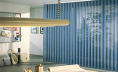 nice blue vertical blinds