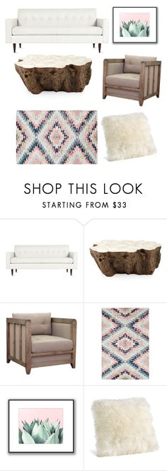 """Anthropology 🌲🍂"" by maleahrandall ❤ liked on Polyvore featuring Design Within Reach, Palecek, I Love Living and Surya"