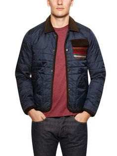 Quilted Printed Jacket by TOPMAN