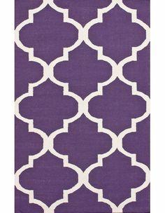 Large Trellis Rug in Purple