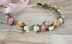 Pastel Floral Crown Flower Headband Woodland by rosesandlemons