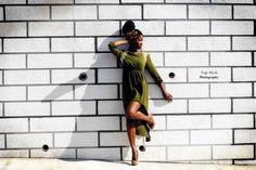 Model Davika Hill in Southampton, Bermuda. Photo credit: Taja Nicole Photography