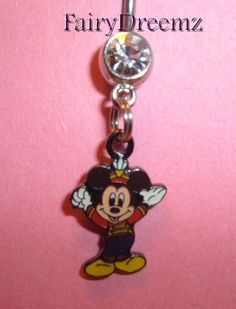 MICKEY MOUSE Music Conductor Disney Belly Navel Ring Body Jewelry on Etsy, $9.00