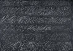 """Cy Twombly painting, """"Cold Stream."""" 1966."""