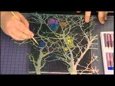 111-2 Julie Fei-Fan Balzer uses oil pastels with a scratch art technique on Scrapbook Soup