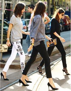 Hahaha they're like a skinny jean, stiletto wearing gang! Andy would have called them clackers in Devil Wears Prada.
