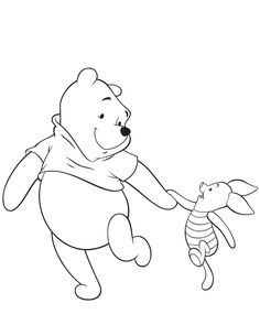 Winnie The Pooh And Piglet Friend Coloring Page Cute Coloring Pages, Cartoon Coloring Pages, Flower Coloring Pages, Disney Coloring Pages, Free Printable Coloring Pages, Coloring Sheets For Kids, Coloring Books, Mandala Coloring, Adult Coloring
