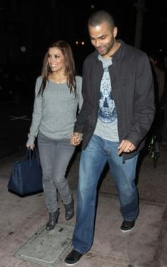 Who made Eva Longoria's blue purse and gray jeans that she wore at Beso restaurant in Hollywood, February 06, 2010? Purse – Hermes  Jeans – Habitual Ava