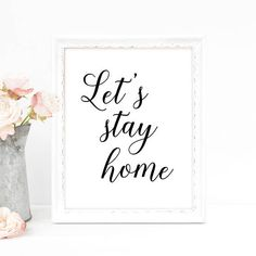 Let's Stay Home Wall Art Farmhouse Decor Fixer Upper