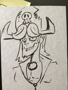 Sketch of Zack Steivers from Supa Pirate Booty Hunt