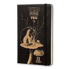 Moleskine Alice in Wonderland Limited Edition Black Hard Large Plain Notebook