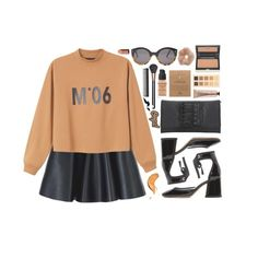 """#126 Tone"" by haunteds ❤ liked on Polyvore featuring Illesteva, MSGM, Monki, Marc Jacobs, Kevyn Aucoin, Dogeared, LORAC, MAC Cosmetics, GHD and Givenchy"