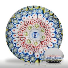 """Very rare antique Saint Louis """"1848"""" dated close concentric millefiori with dancing ladies and devils paperweight.(11) images"""