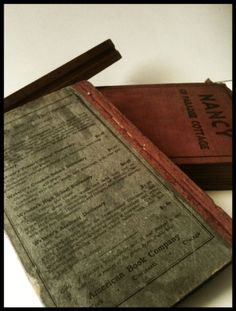 School Book From The 1860's civil war era