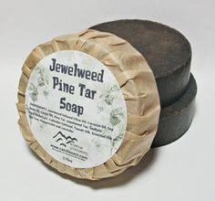 Jewelweed Pine Tar Soap by MountainScentament on Etsy, $4.00