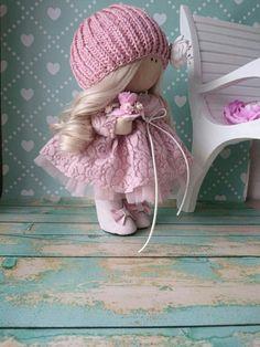 Handmade doll Pink doll Cloth doll Muñecas Tilda doll Bambole di stoffa Rag doll Fabric doll Nursery doll Baby doll Textile doll by Elvira __________________________________________________________________________________________ Hello, dear visitors! This is handmade cloth doll