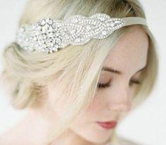 Crystal Headband, Rhinestone Headband, Headpiece Wedding, Bridal Headpieces, Headband Hairstyles, Wedding Hairstyles, Bridal Comb, Wedding Hair Accessories, Art Deco Fashion