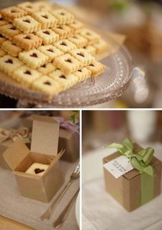 ideas wedding food homemade christmas gifts for 2019 Cookie Wedding Favors, Homemade Wedding Favors, Cookie Favors, Cake Wedding, Party Favors, Wedding Gifts, Kreative Desserts, Cake Packaging, Cookie Box