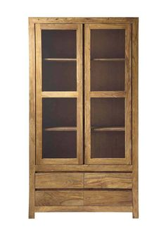 Natural Vitree Stockholm Glass Armoire