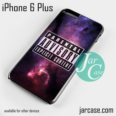Parental Advisory Galaxy NT Phone case for iPhone 6 Plus and other iPhone devices