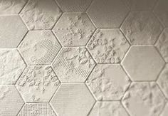 dechirer hexagon tiles by patricia urquiola for mutina- great textural tile
