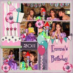 Emma's Birthday, digital layout by Art_Teacher