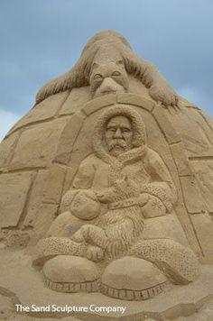 Constructions de sable Snow Sculptures, Sculpture Art, Ice Art, Great Works Of Art, Snow Art, Grain Of Sand, Sidewalk Chalk, Chalk Art, Art Festival