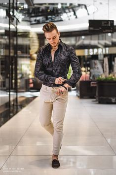 Outfits Casual, Casual Wear, Men's Outfits, Casual Chic, Men Casual, Grunge Fashion, Mens Fashion, Paisley, Herren Outfit