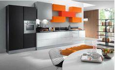 cucina moderna e soggiorno