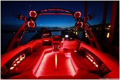 Awesome lighting for a Malibu boat.