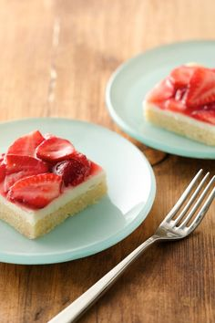 If you like fruit pizza, you'll love this sugar cookie-based strawberry dessert with a vanilla-cream cheese filling. This prize-winning recipe is one of our most popular recipes of all time with more than 60,000 Pins—and it's a perfect way to use up fresh strawberries. Feel free to sub in whatever fresh fruit you have on hand: peaches, blueberries, raspberries or blackberries.